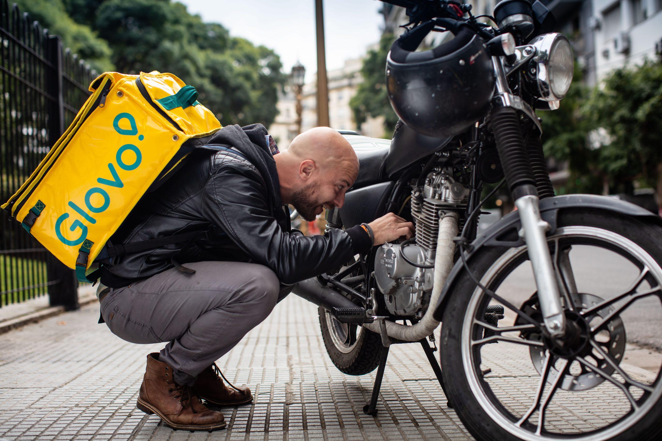 rider motorbike repair